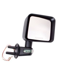 Door Mirror w/ LED Signals RH; 07-18 Jeep Wrangler