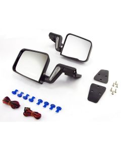 Heated Door Mirror Kit, Black; 87-02 Wrangler