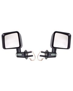 Door Mirror Kit w/ Turn Signal; 07-18 Jeep Wrangler
