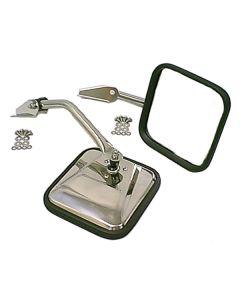 Side Mirrors w/ Convex Mirror SS; 55-86 CJ