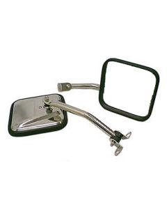 CJ-Style Side Mirror Kit, SS; 87-95(YJ)