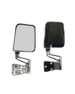 Door Mirror Kit, Chrome; 87-02 Jeep Wrangler