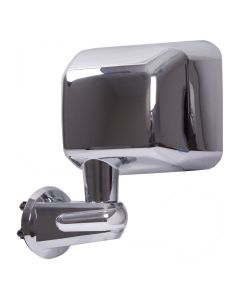 Door Mirror, Chrome, LH; 07-18 Jeep Wrangler JK
