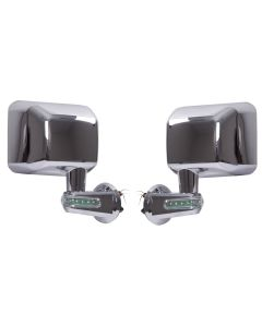 Door Mirrors w/ LED Turn Signals Chrome; 07-18 JK