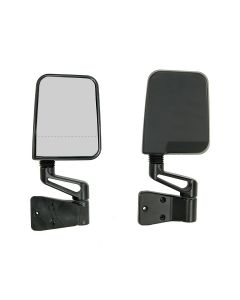 Door Mirror Kit, Dual Focus, Black; 87-02 Wrangler