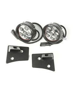 Windshield Brkt LED Kit, Text. Blk, Rd.; 07-18 JK