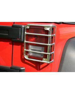 Tail Light Euro Guards; 07-18 Jeep Wrangler JK