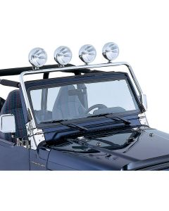 Full Frame Light Bar, Stainless; 97-06 Wrangler
