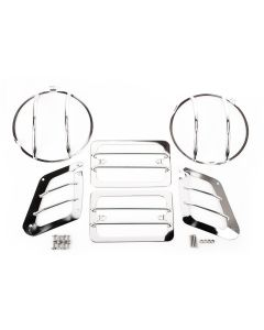 Euroguard Light Set, Front, Stainless; 97-06 TJ