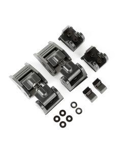 Hood Catches, Textured Black; 18-19 Jeep JL, 2020 JT