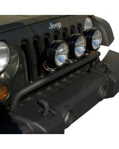 Bumper Mounted Light Bar Textured Blk 07-18 JK