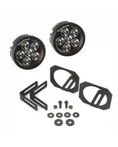 LED Light & Mount Kit, Circle, 07-18 Wrangler