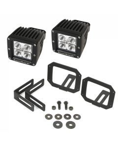 LED Light & Mount Kit, Square, 07-18 Wrangler