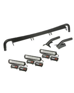 Windshield Light Bar Kit; 97-06 Wrangler TJ