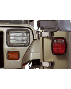 Stone Guard Set, Black, 87-95 Jeep Wrangler YJ