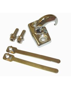 Chrome Rear Tow Hook, 97-06 Jeep Wrangler