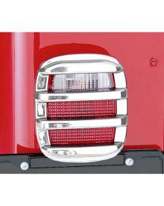 Tail Light Guards, Chrome, 76-06 CJ & Wrangler