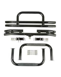 3-In Tubular Bumper&Side Step Kit Blk 55-75 CJ