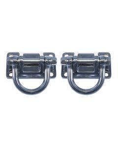 Polished SS D-Rings, XHD Modular Frt, Rear Bumper