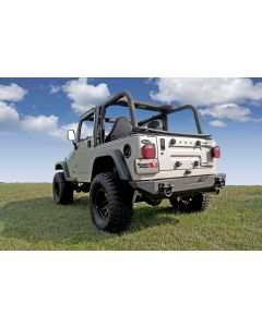 XHD Rear Bumper, 76-06 Jeep CJ & Wrangler