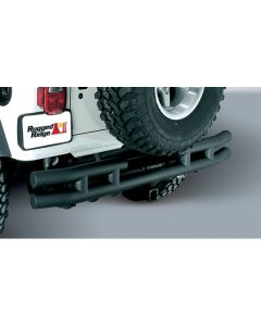 3-In Dbl Tube Rear Bumper w/ Hitch 87-06 Wrangler