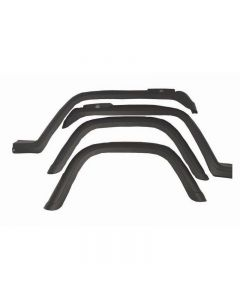 4-Piece Fender Flare Kit; 87-95 Jeep Wrangler YJ