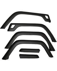 6-Piece Fender Flare Kit; 97-06 Jeep Wrangler