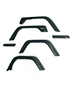 7-Inch Fender Flare Kit; 97-06 Jeep Wrangler