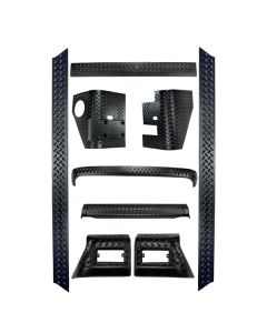 9-Piece Body Armor Kit, 97-06 Jeep Wrangler TJ