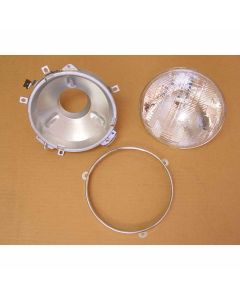 Headlight Assembly With Bulb, 72-86 Jeep CJ Models