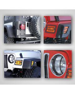 Euro Guard Light Kit, 97-06 Jeep Wrangler TJ