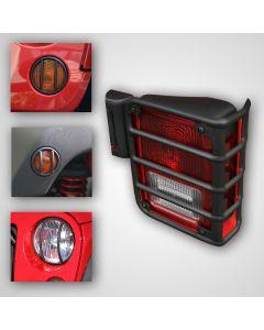 Euro Guard Light Kit, 8-Piece, Blk, 07-18 Wrangler