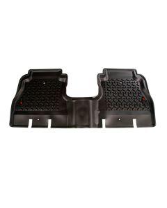 Floor Liner, Rear; Black, 2018-2019 Jeep Wrangler JL 4 Dr