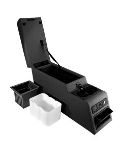 Ultimate Locking Console Blk Denim 76-95 CJ&Wrangl