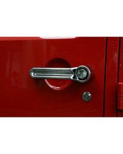 Door Handle Cover Kit, Chrome, 07-18 Wrangler JK