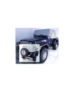 Cab Cover, Gray, 92-06 Jeep Wrangler