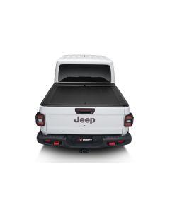 Armis Retractable Locking Bed Covr W/Trail Rails; 20-21 Jeep Gladiator JT
