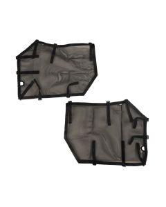 Fortis Tube Door Covers, Front Pair, Black; 18-19 JL/JLU