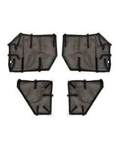 Fortis Tube Door Covers, Full Set, Black; 18-19 JLU