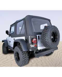 S-Top Door Skins, Black, Tinted Windows, 97-06 TJ