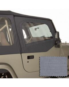 Upper Soft Door Kit, Gray, 88-95 Wrangler YJ