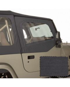 Upper Soft Door Kit Blk Denim 88-95 Wrangler YJ