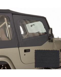 Upper Soft Door Kit Blk Diamond 88-95(YJ)