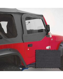Upper Soft Door Kit, Black Denim, 97-06 Wrangler