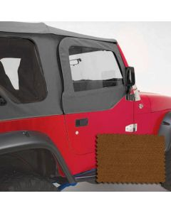 Upper Soft Door Kit, Dark Tan, 97-06 Jeep Wrangler