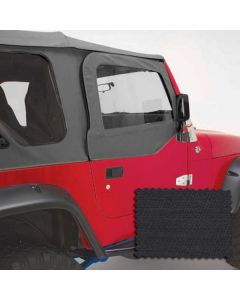Upper Soft Door Kit, Black Diamond, 97-06 Wrangler