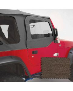 Upper Soft Door Kit, Khaki Denim, 97-06 Wrangler