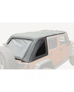 Bowless Soft Top, Black Diamond, 4-Door; 07-18 JK