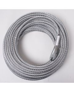 Steel Winch Cable, 23/64-inch x 94 feet