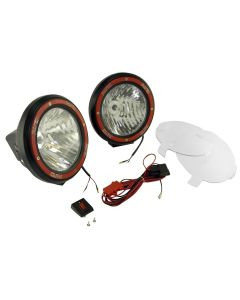 Light Kit, HID, 7 Inch, Round, Black, Composite Housing, 2 Piece